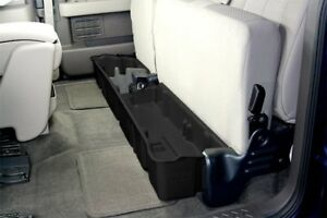 DUHA Under Seat Storage For F150 Ford SuperCab NOSUB 2009-2014 Black Rear 20071