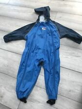 Bush Baby Puddlesuit Rainsuit All In 1 Blue 12-24mths Double Zipped Peak