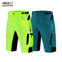 Mens Bike Bicycle Baggy Cycling Shorts Knicks Padded removable Underwear Pants