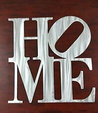 """12"""" HOME block Metal Wall Decor Philly NY sculpture Decoration"""