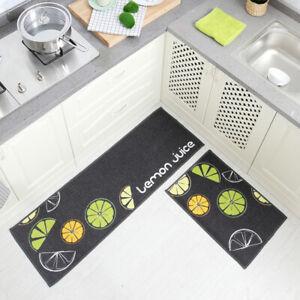 2PCS/SET Washable Rectangle Non-Slip Kitchen Rug Bedroom Floor Mats Carpet LM