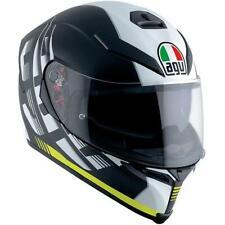 AGV K5 Helmet Darkstorm Black Yellow Medium/Small MS Motorcycle Helmet Bargain