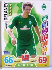 Match Attax 2017/18 Bundesliga - #045 Thomas Delaney - SV Werder Bremen