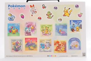 Pokemon 2021 Limited Stamp 84 yen 10 kind of Sheets Japan Post Official New Cute