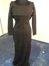 Crissa Linea Italiana Black Wool Gown