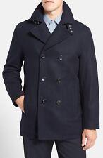 Mens Michael Kors Wool Double Breasted Peacoat Navy RRP £199 Large box5550 B