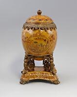 9937113-dss Table Centerpiece Egg Lid Box Ceramics Bronze
