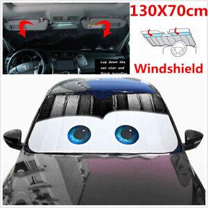 Aluminium Foil Black Cartoon Eyes Car Windshield Sun Visor Sunshade Cover