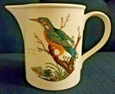 Portmeirion Birds of Britain 24 oz Pitcher Kingfisher & Bullfinch Vintage