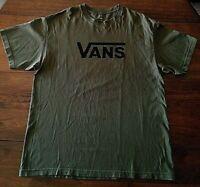 Vans Mens Classic Logo Graphic Shirt OD Green XL Skate Skateboard