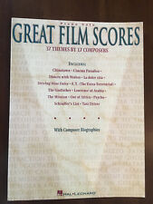 Piano Solos of GREAT FILM SCORES: 37 Themes by 17 Composers, Intermediate Skill