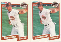 Roberto Alomar Lot of 2 1990 Fleer #149 San Diego Padres Hall of Fame HOF cards