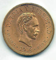 Paises del Caribe 10 Pesos 1916 oro  @ Muy Bella @