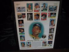 1996 Topps Mickey Mantle Commemorative Card Sheet (in wooden frame)