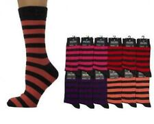 STRIPED ANKLE SOCKS - CHOICE OF 4 COLOURS - SIZE: UK 6-11