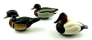 Lot of 3 2000 Jett Brunet Ducks Unlimited Mini Decoys