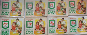 S&H Green Stamps Lot Quick Saver Stamp Book With Stamps Vintage Set Of 8