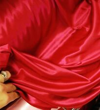 RARE LIQUID SATIN Stretch polyester Knit SUPER SHINY SOFT Fabric BTY HOT PINK