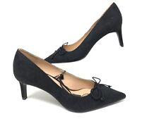 42fdda4b69c Zara Women s Court Shoes Pumps Heels Black Bow EU 37 US 6.5 Pointed 3228 301