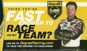 2009 Dale Earnhardt, Jr. Degree NASCAR handout
