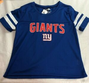 NFL New York Giants Women's Mesh Logo Jersey - NWT - M/2XL - Blue - C151