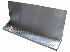 "Draft Beer Tower Wall Mt Drip Tray 36""  L W/ S.S. Grill - Drain # DTWM36SS"