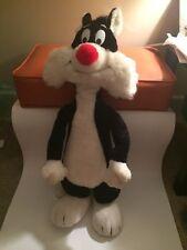 "Vintage Warner Bros Mighty Star Sylvester Plush 1971 26"" Big Tall Large Stuffed"