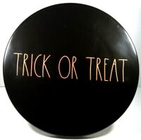 Rae Dunn Halloween Trick or Treat Black & Orange Cake Stand/ Serving Tray VHTF!