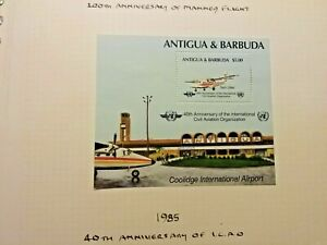 Antigua and Barbuda 40th anniversary of civil Aviation 1885