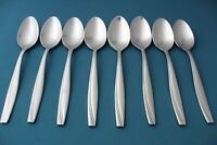 8 Soup Spoons Oneida CAMLYNN Frosted Handle Stainless 7""