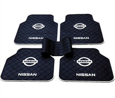 5Pcs Waterproof Rubber Car Floor Mats Classic White Black for Nissan Front Rear