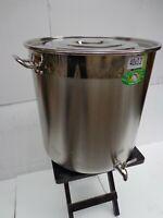 FAITOUT MARMITE GEANTE 50L inox avec robinet brassage biere cidre jus pomme pro