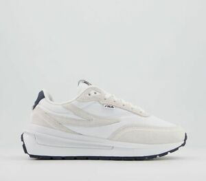 Womens Fila Solstice Exp A Trainers White Navy Red Trainers Shoes