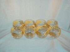 VINTAGE GOLD PAINTED PEACOCK JUICE GLASSES LOT OF 8