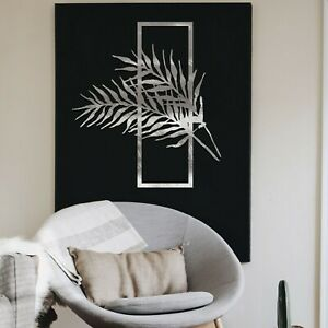 0105 Metal Fern In Frame Hanging Modern Contemporary Wall art