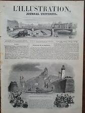 L'ILLUSTRATION 1844 N 85 EMBARQUEMENT DU ROI LOUIS PHILIPPE  A TREPORT, LE 7 OCT