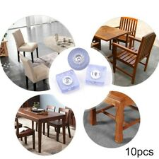 """New listing 10 Rubber Non Slip Furniture Feet Pad Floor Table Desk Chair Protection+Screw 1"""""""