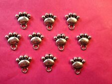 Tibetan Silver Dog/Cat Paw Charms 10 per pack