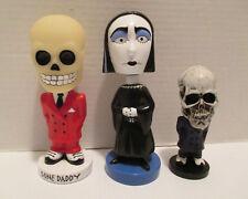 Bone Daddy & Raven The Nodding Goth Girl  Bobble-head Lot of 3