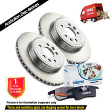 FORD Courier PE PG PH 2.5L 2.6L 2WD 255mm 99-06 FRONT Disc Rotors & EuroPads