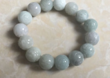 Beads Rose Flower Bangle Bracelet F5 Certified Green Natural A Jade Jadeite Bead