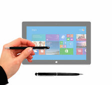 Black Stylus & Pen for Microsoft Surface Pro, Surface Pro 2 w/ Rubber Soft Tip