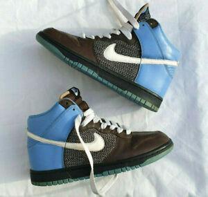 Nike Dunk High Baroque Brown White-Universty Blue Dark Ob