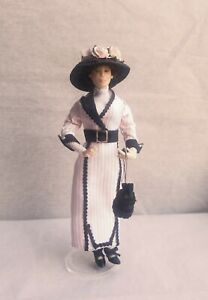 Vintage Artist Made Meticulous Woman Dollhouse