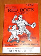 The Little Red Book of Baseball 1957   Baseball's Book of Official Records