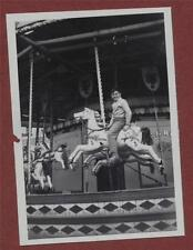 Morcambe 1959 Carousel  Merry-go-round fairground    photograph  da.122
