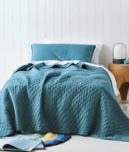 New pair of Bianca European quilted European cover cushion melon textured RRP$79