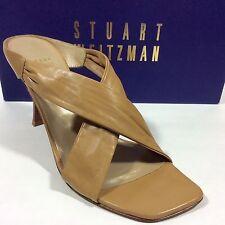 Stuart Weitzman Ladies Leather HEELS Made in Spain.tan Nappa Size 7.5 M