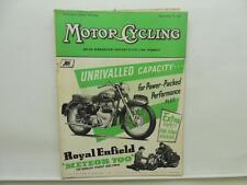 December 1954 MOTORCYCLING Magazine Royal Enfield 700 Meteor L8646