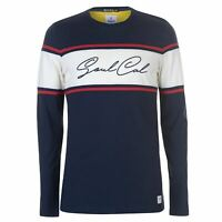 Mens SoulCal Stripe Box Logo Long Sleeve T Shirt New